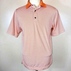 FootJoy Polo Shirt S Lisle Feeder Stripe Golf